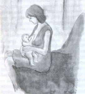 Положение тела при кормлении грудью