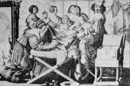 Бельгия, семнадцатый век. Новый персонаж появляется на сцене традиционных родов: мужчина?врач со своим ящиком, где лежат металлические щипцы