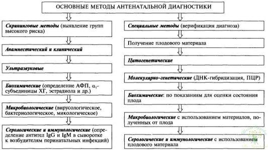 Схема 1. Антенатальная диагностика