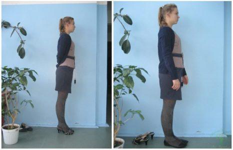 Девушка с каблуками и без каблуков