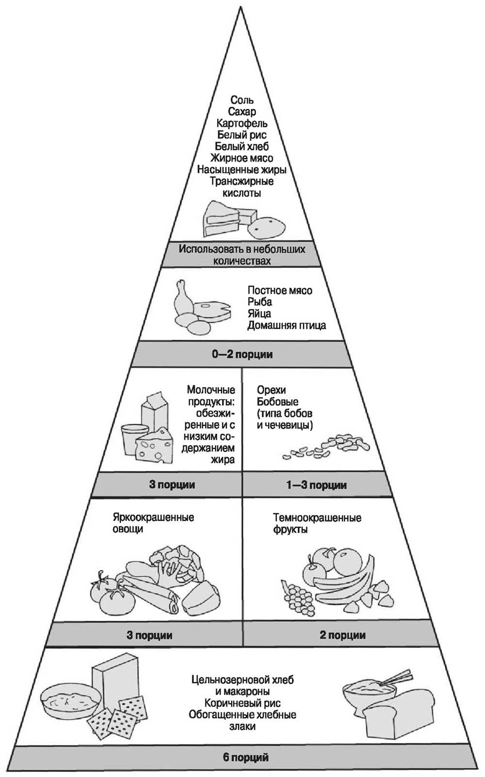 Рис. 1 -1. Ежедневная пирамида пищи для пожилых людей.